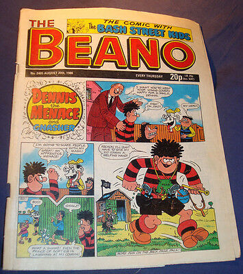 Beano Comic Issue no.2405 from 20/8/1988