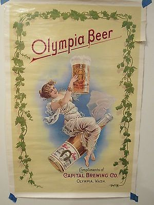 Reproduction Olympia beer poster
