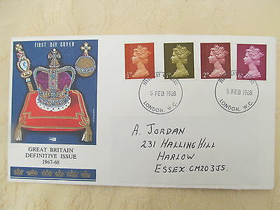 First Day Cover Great Britain Definitive Issue 1967-68 5 Feb 1968