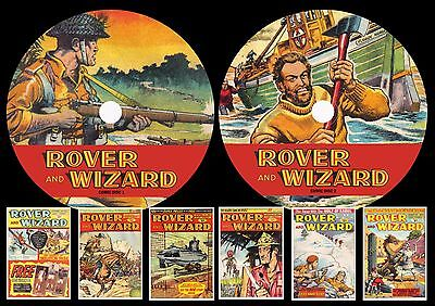 Rover & Wizard Complete Comic Run On Two Printed Dvd Rom's
