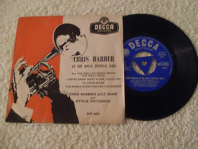"""Chris Barber Jazz Band At The Royal Festival Hall....7"""" Ep..p/s..1957 Tri-Centre"""