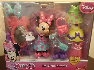 Minnie Mouse Ball Gala Minnie With 10 Fashion Accessories, Easy Snap On Outfits.