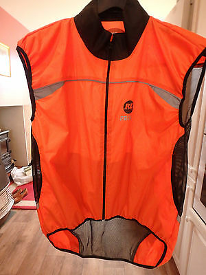 Proviz HI VIZ Men's Cycling Running Orange RE Gillet Vest XL extra Large VGC