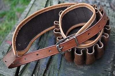 Canvas and Leather 12 Bore Cartridge Belt (New)
