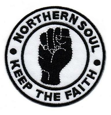 NORTHERN SOUL KEEP THE FAITH NEW Iron on/ Sew On Embroidered Patch RARE SOUL