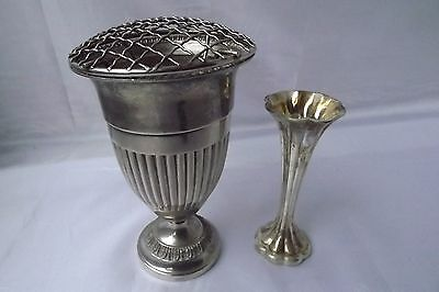 silver plated vases