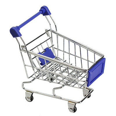 Kids Childrens Supermarket Trolley Blue - Miniature - Shopping - Play Toy - NEW