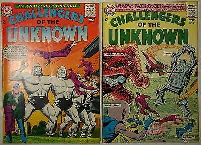 CHALLENGERS of the UNKNOWN #41 and #42 - 1965 - VG+