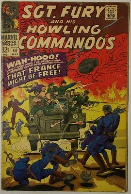 SGT. FURY and His Howling Commandos #40 - 1967 - VG+