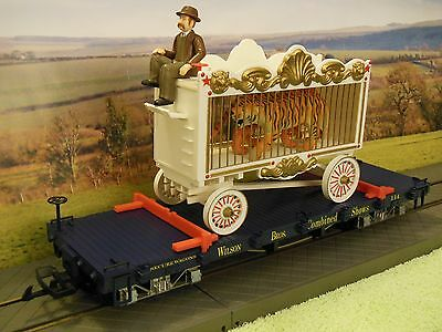 LGB 4060 DG Wilson Bros Circus flatcar Ltd Edition No 1538 with Tiger Cage Load