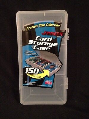 PLANO Jammers - Trading Card Storage Case holds 150 standard cards USA made (G)