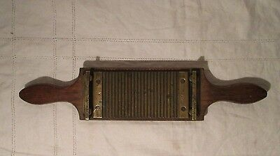 Antique Apothecary / Pharmaceutical Wood and Brass Pill Roller