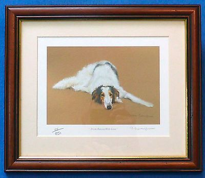 Borzoi - Russian Wolfhound - Limited Edition Framed Print 65/80- D. Gillingham