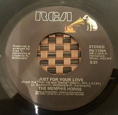 """The Memphis Horns Just For Your Love Soul 7"""" VG+"""
