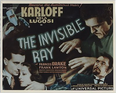 INVISIBLE RAY 1936 photographic copy of poster