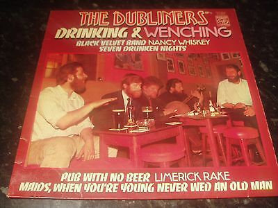 "The Dubliners,Drinking And Wenching,vinyl 12"" LP 1976(50245)EX"