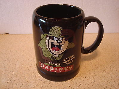 Tankard/Mug Marines Taz Designed Exclusively for Warner Brothers Studio Store