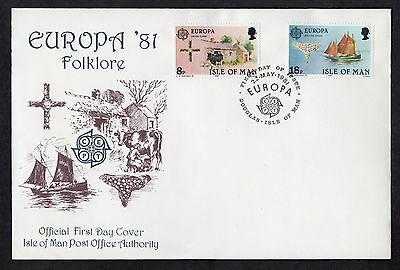 Isle of Man: Europa Folklore on first day cover (FDC)