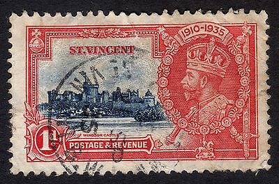 St Vincent: 1935 Silver Jubilee 1d only; fine used condition
