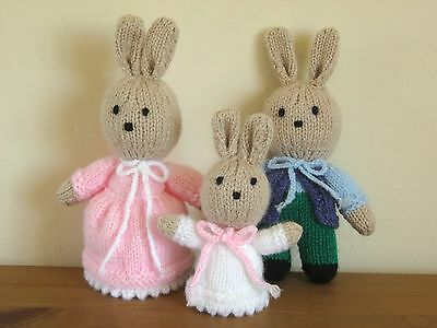 Hand Knitted Toy Rabbit Family - Gift