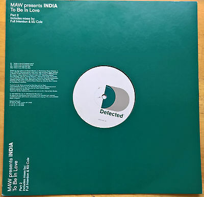 """MAW Presents India – To Be In Love 12"""" Vinyl"""