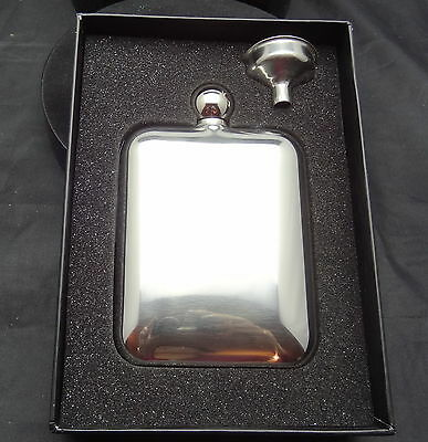 Stainless Steel Hip Flask. New In Box