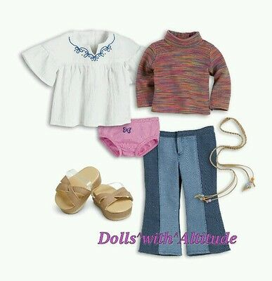 NEW American Girl Doll Julie Classic Original Meet Outfit pre beforever 6 pcs!!!