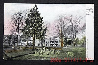 c.1914 Postcard General View School for the Deaf, Jacksonville, Ill. - Posted