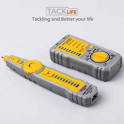 Tacklife CT01 Cable tester RJ11 RJ45 Line Finder Wire Tracker Continuity Checkin