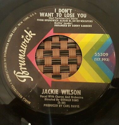 """Jackie Wilson I Don't Want To Lose You Soul 7"""" VG+/VG"""