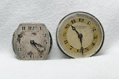 2 x J W Benson Wristwatch Movements & Dials For Spares or Repair
