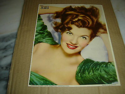 CORINNE CALVET Hollywood actress Portuguese magazine Plateia 1953