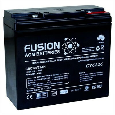 New Agm12V22Ah Golf Buggy/ Mobility Scooters Battery Cbc12V22Ah