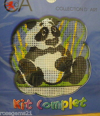LITTLE PANDA -TAPESTRY KIT- by Collection D'Art (New) Includes Soft Cotton
