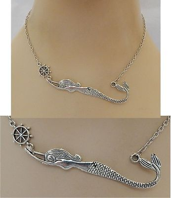 Silver Mermaid Strand Necklace Jewelry Handmade NEW adjustable Accessories
