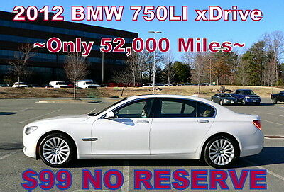 2012 BMW 7-Series 750Li xDrive AWD     $99 NO RESERVE 2012 - EVERY OPTION! ONLY 52,000 MILES! COST NEW $100,000! NICE! $99 NO RESERVE!