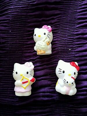 3 collectable  HELLO KITTY dolls figures
