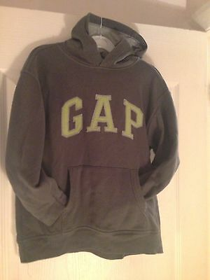 Boys GAP Hoodie. Will Fit Age 9-11 Years. Grey With Green Logo