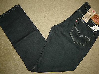 NWT Levi's 511 jeans 36 x 32 Slim Fit Retail $70   Style # 04511-0408