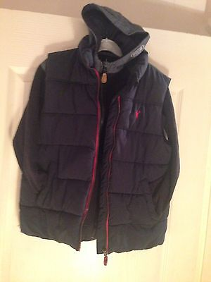 Primark Hoodie And Blue Zoo Gilet Boys Navy And Red Fit Ages 8-10