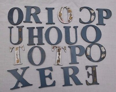 LOT of 20 VINTAGE METAL SIGN LETTERS 3 INCHES tall