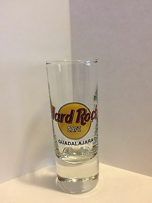Hard Rock Cafe Shot Glass GUADALAJARA Black Letters Black Circle Discontinued