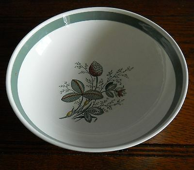 Large Vintage Crown Ducal dish bowl, hand coloured in Gay Meadow Pattern