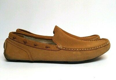 Andrew Marc New York Loafer Driving Moccasin Brown Men's 11 Leather Suede