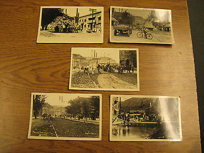 Trail BC Real Photo Postcards RPPC PAVING OPERATIONS / Smelter by Hughes Bros