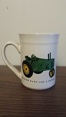 Gibson JOHN DEERE 'Nothing Runs Like A Deere' Coffee Mug EUC FREE SHIPPING