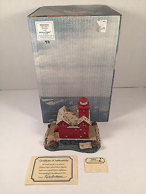 Harbour Lights Lighthouse Holland Big Red Michigan 142 Collectible COA Box