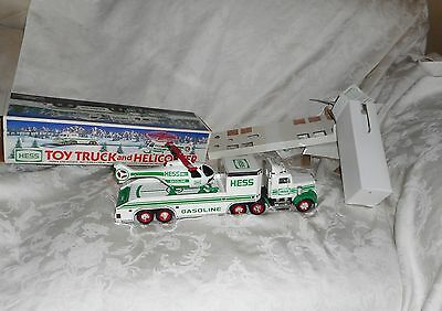 1995 Hess Toy Truck and Helicopter with Lights in Original Box NEW