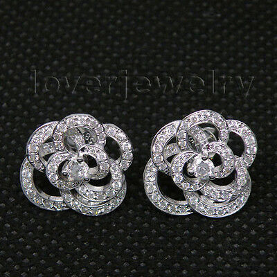 Jewelry Sets Solid 14Kt White Gold Natural Diamond Earrings WE035