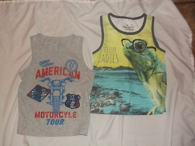 JUMPING BEANS ✿ 2 Tank Tops✿ 3 T ✿Boy✿Frog in Glasses & Motorcycle